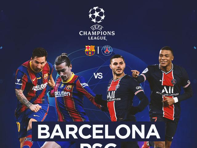 Watch link Paris Saint-Germain vs Barcelona: Round of 16 Round 2
